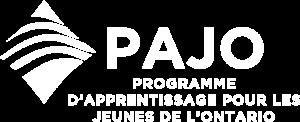Pajo Logo en Blanc
